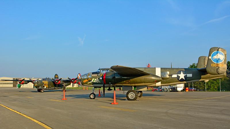 B-24 AND B-25 AT BUTLER
