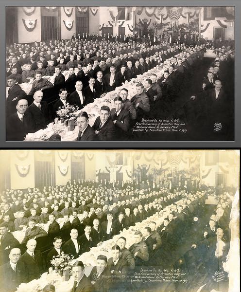 Photo restoration (top) of original print (bottom)