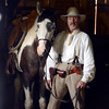 "Sky the horse and ""Old Cowboy Fred"" wait in the barn until the rain stops.<br /> Visitors at Walker Ranch Homestead saw what summer was like on a ranch in the 1800s in Boulder County. For more photos and a video of Walker Ranch, go to  <a href=""http://www.dailycamera.com"">http://www.dailycamera.com</a>.<br /> Cliff Grassmick  / July 29, 2012"