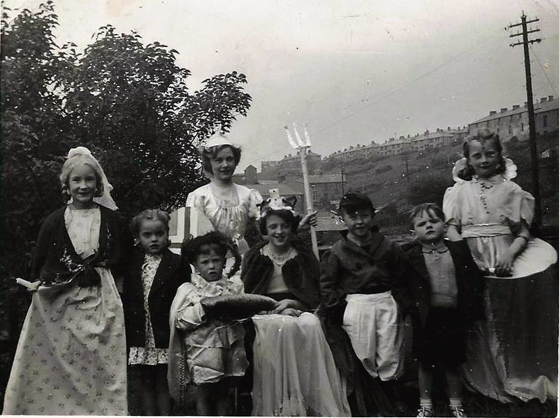 Waterfoot Queen's Coronation Pageant 1953 Michael Heap as Prince Charles 2nd from right