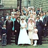 Newchurch David Niland and Julie Nuttall's Wedding 1979  Mrs Bell on left 2nd row