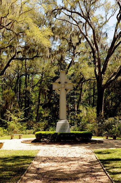 Wesley Memorial Gardens at Christ Church on St. Simons Island, Georgia on 04-03-09