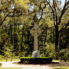 Wesley Memorial Gardens at Christ Church on St. Simons Island, Georgia on 04-03-09