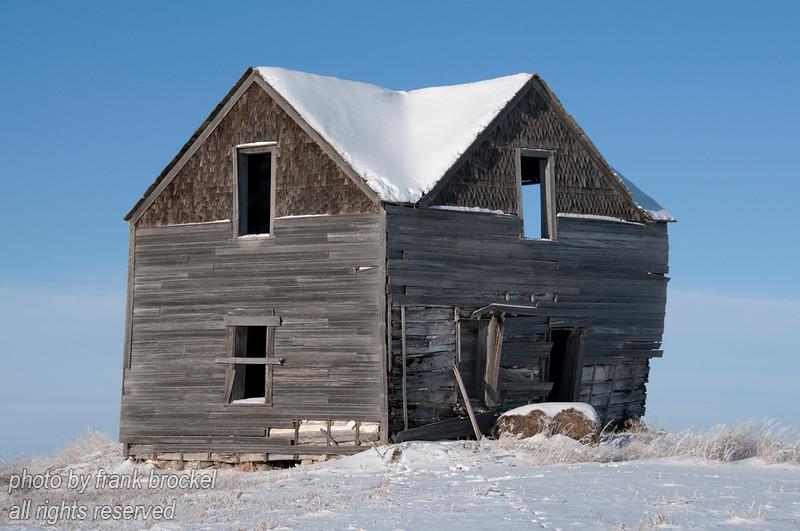An abandoned old farm house south of Wynyard, Saskatchewan