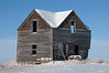 An abandoned old farm house south of Wynyard, Saskatchewan
