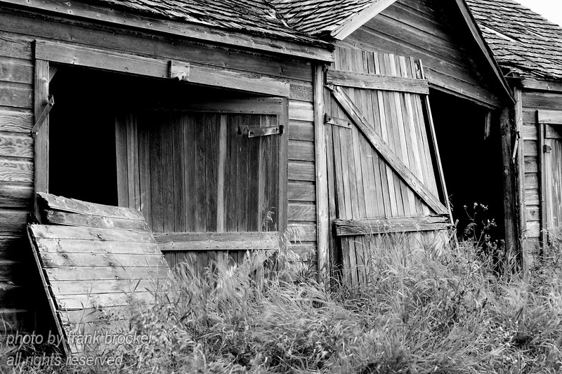 An old shed on the Torwalt farm near Jansen, Saskatchewan