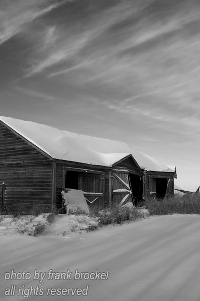 Some old sheds near the Torwalt farm house near Jansen, Saskatchewan