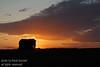 Sunset and an old farm yard in Saskatchewan, Canada
