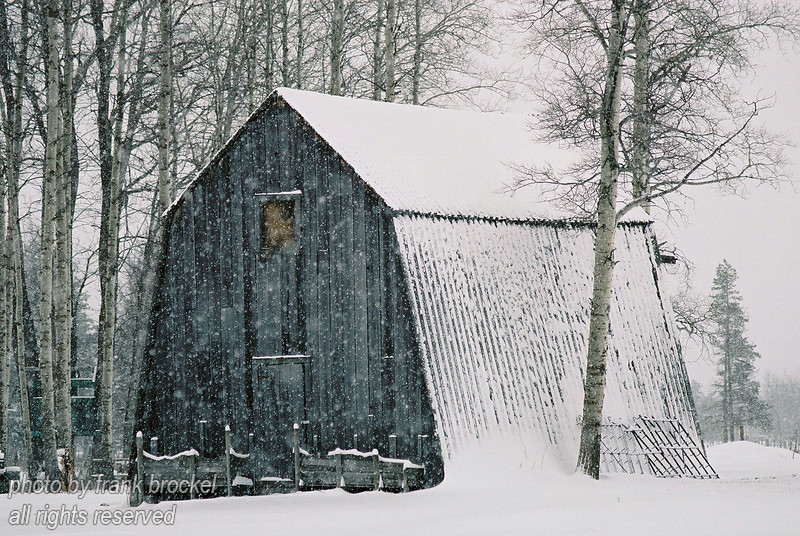 An old Barn in the snow