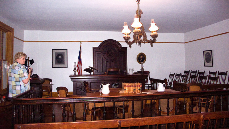 Courtroom in Whaley House<br /> Didn't find any ghosts here.