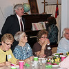 Seated in front of Pastor George Kilmer are (left-to-right) Karen Miller, Dora Hale, Sharon Finley, and Barney Sherman - 25 Mar 2012