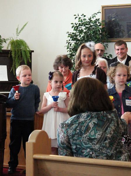 Children's bell choir - 25 Mar 2012