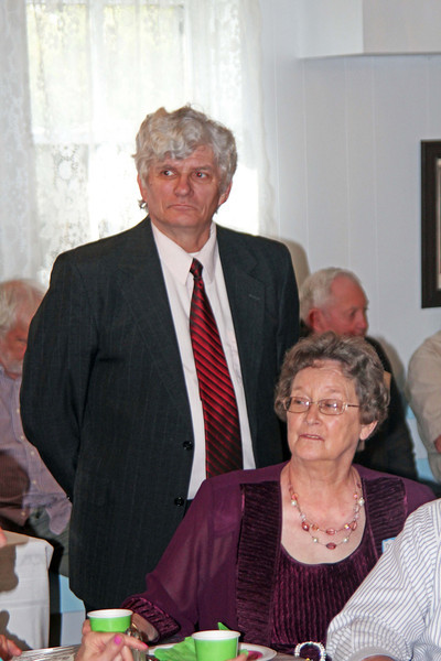 Pastor George Kilmer and Carolyn Lemmon (seated)- 25 Mar 2012