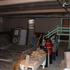"Part of the old ""all purpose"" basement; notice the basketball backboard at left."