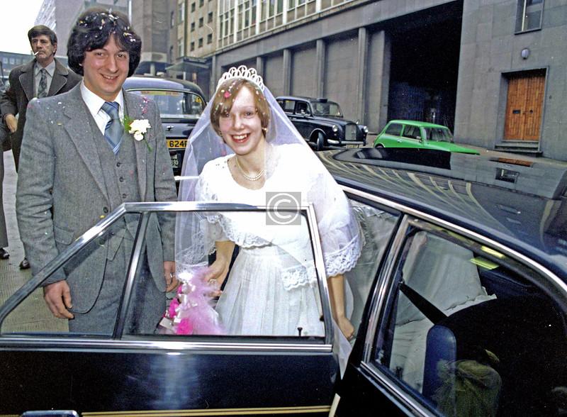 A Martha St wedding.    February 1980