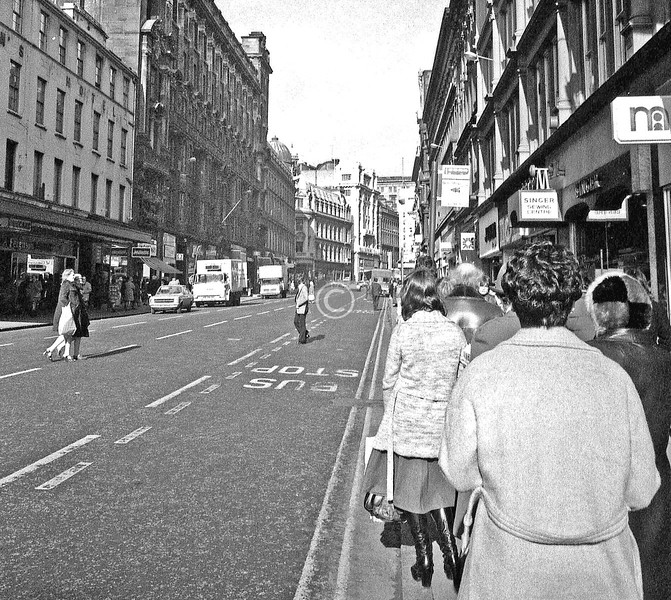 Waiting for a bus in Union St, with a film needing to be finished off.    March 1976