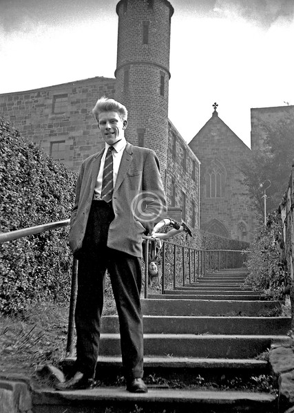Ken - last I heard he was working for the World Bank in East Africa, he did always seem likely to go places. The round tower belonged to the building which housed St Conval's School from 1859 to 1906, and served several other purposes before being demolished to make way for a car park for the St Mary Immaculate Church behind it. This L-shaped path was known as Dovecot.