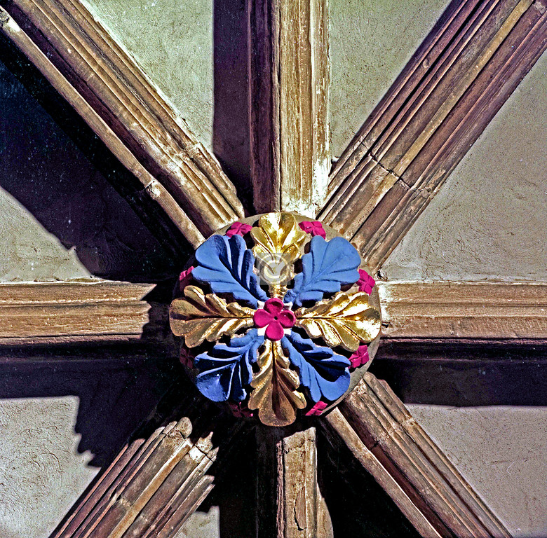 Ceiling boss in Glasgow Cathedral     December 1976