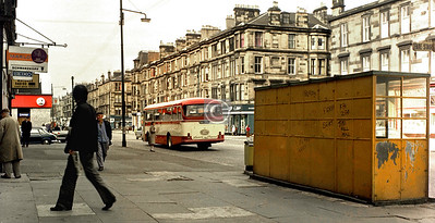 Vicky Rd again. I suppose even bus shelters become quite interesting when you don't see that kind any more.    April 1976
