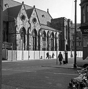 Govanhill Church, Allison St side, from Belleisle St.  March 1975