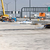 April 30, 2008:  The old bridge has been torn down to make way for the second new bridge approaches.  The first new bridge is open.  Until the second bridge is completed, the first bridge operates with three lanes in each direction.