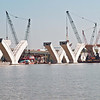 September 8, 2005:  The V-shaped piers reach their full heights.