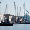 September 8, 2005:  Working on the piers.