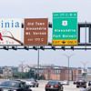 June 13, 2010:  Welcome to Virginia (bike trail across bridge on right).