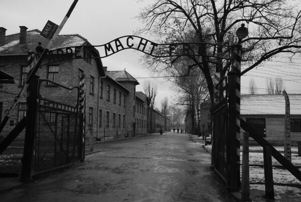 This sign appeared on other concentration camps gates..