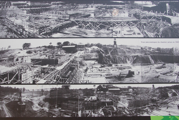 The building site as it was in 1943