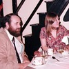 Peter and pam sitting at table Old Mill Christmas 1981