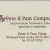 Pete and Pam Computers peter and Pam Fisher 98 Moyser Road 1980