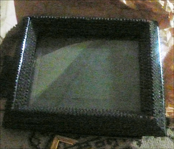 old sq textured photo frame