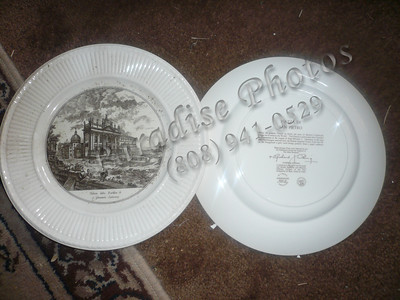 """6 Wedgwood Piranesi Plates Rome Images takes from 18th Century drawings by Piranesi  10 1/2"""""""