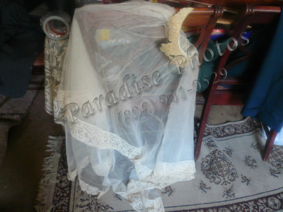 wedding veil one verysmall hole
