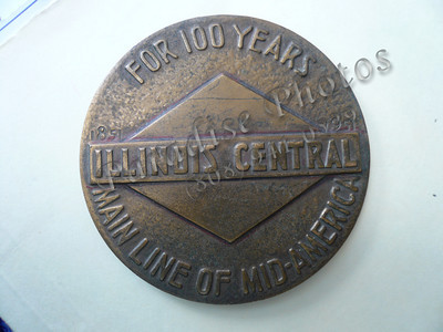 IllinoisCentral 100 yrs 3 in  medallion
