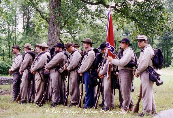 Rebel ranks, Gettysburg battlefield in Pennsylvania.