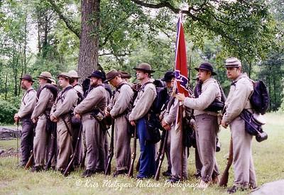 Rebel ranks, Gettysburg battlefield in Pennsylvania.