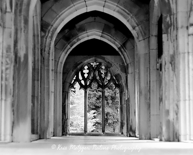 Washington Chapel, Valley Forge PA, black and white.