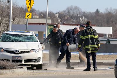 Hit & Run Flips car on Water Street in Fitchburg