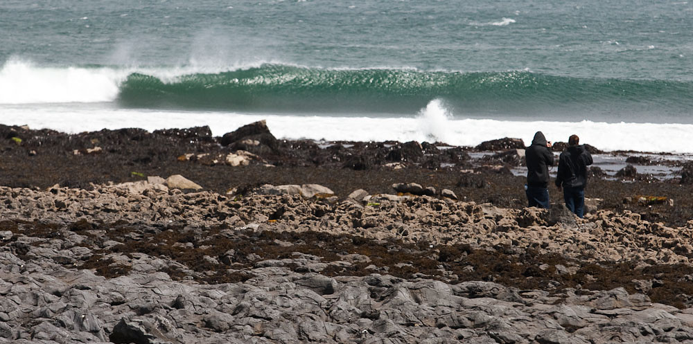 Keegan & Martin surfing in Ireland
