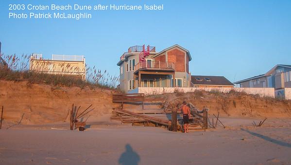 2003 Hurricane Isabel Croatan Beach Erosion