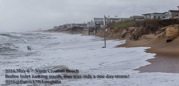 2016 May 6 Croatan Beach Morning After 1 Day Storm