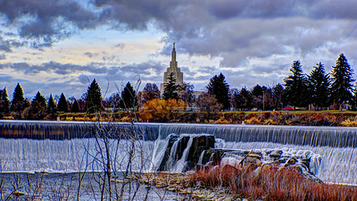 Temple and Falls Idaho Falls, ID December 7, 2012 http://www.billterry1.com/2012/12/catching-up-boise-idaho-falls-early-december.html