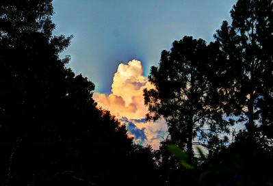 Framed storm clouds