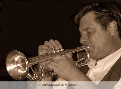 Trumpet Player in Sepia Phoenix, AZ  July 9, 2005