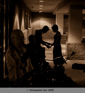 Couple dancing in silhouette Passions Restaurant Phoenix, AZ  April 8, 2006