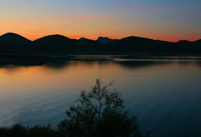 Sunset Lake Pleasant, AZ November 18, 2010