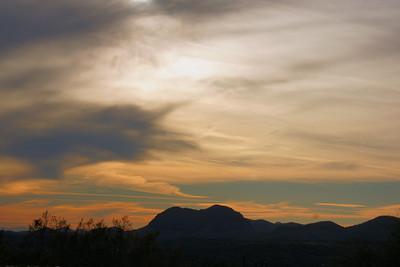 Late Afternoon Clouds Lake Pleasant, AZ November 19, 2010