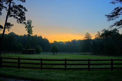 Sunrise Wildwood Farm High Point, NC September, 2013
